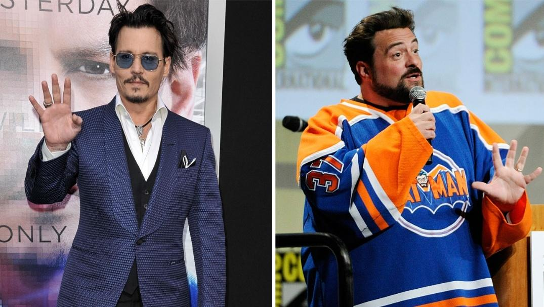 2014: #JohnnyDepp and #KevinSmith are teaming up for #YogaHosers, an action-adventure movie that will star Depp, #LilyRoseDepp and Smith's Daughter #HarleyQuinn   #YogaHosers (2016) https://t.co/FTOTfvSQoE