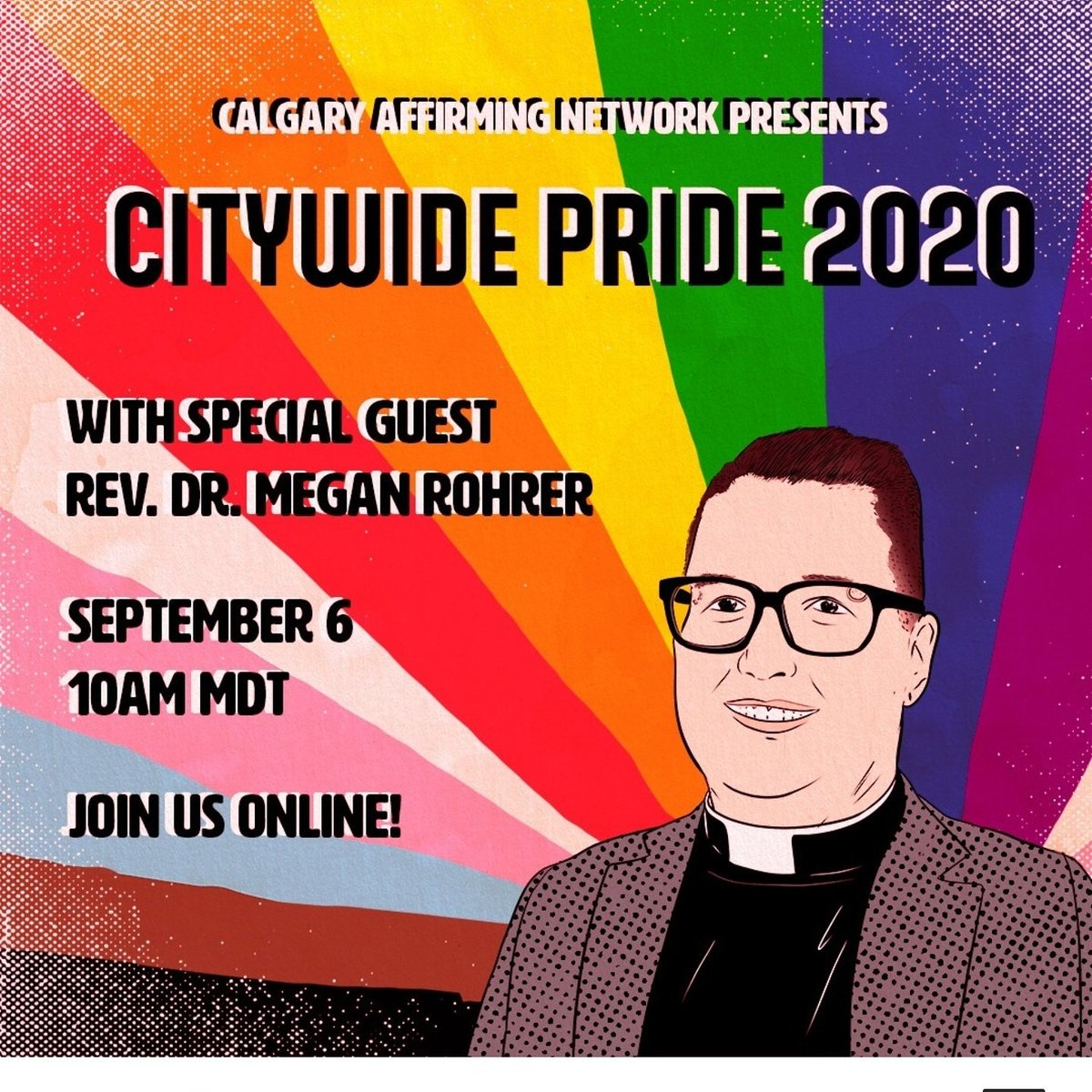Don't forget to check out the city wide Pride Service. The service will be livestreamed on the Affirming Connections Facebook page at 10 am.  #yyc #pridemonth2020 #affirming https://t.co/xFZkohCwVj