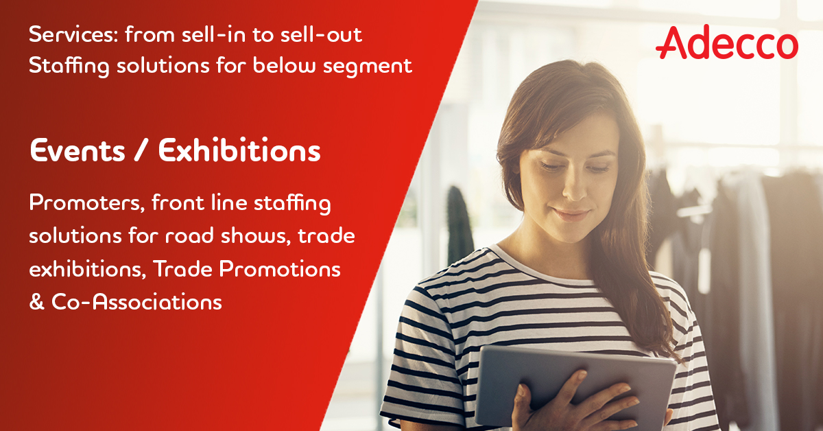 #EventStaffingSolutions Generate shopper attention, visits, and engagement with the best field marketing sales staff, promoters and front line employees.  Get in touch with us at adeccoae.info@adecco.com  #adeccomiddleeast #promoters #eventstaffing #ExhibitionStaffing https://t.co/Mm8Tjn6Ltc
