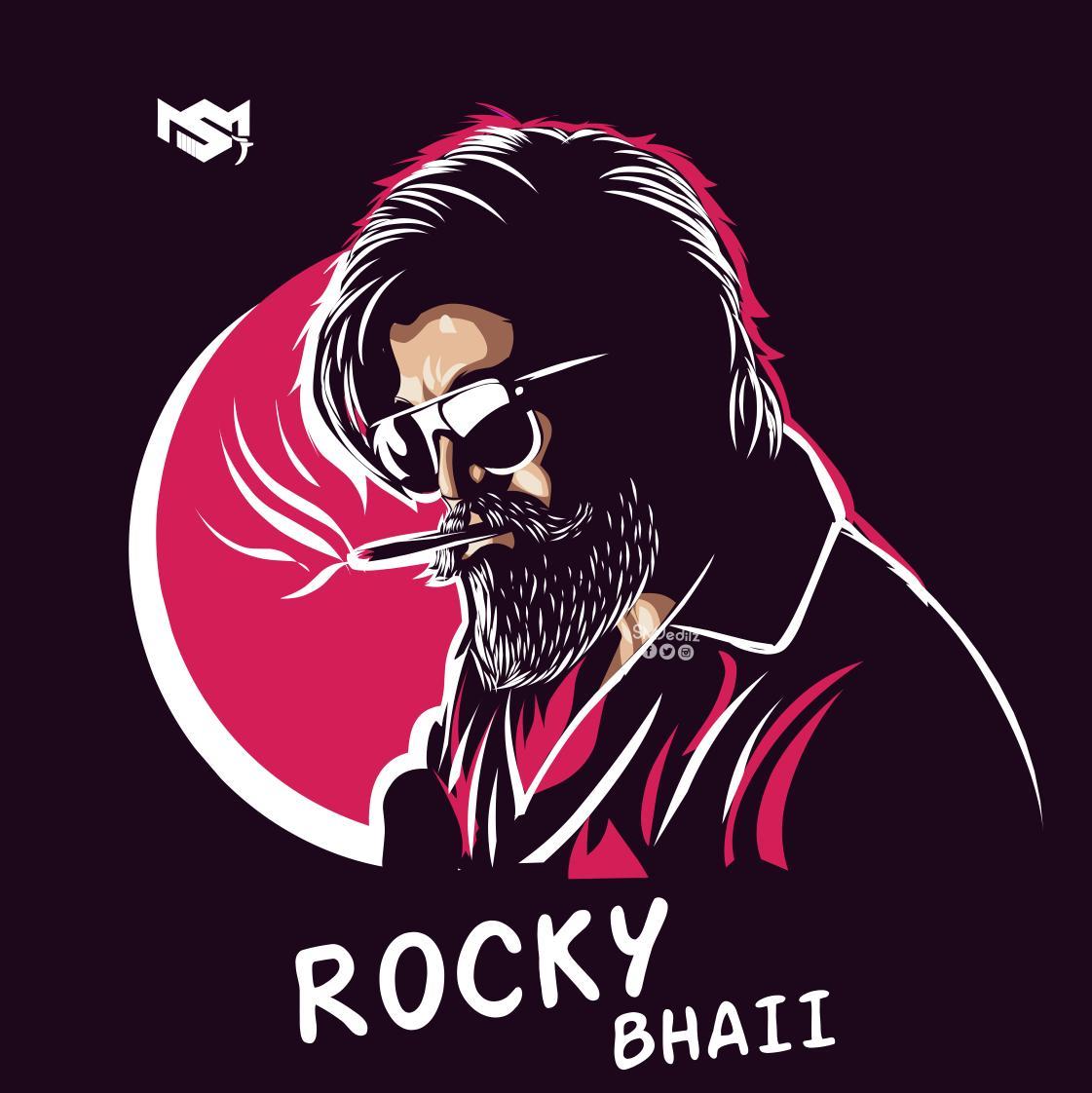 #Illustration artwork 🎨✍️  for the GANGSTAR⭐ Rocky bhai 🔥🔥💥  @TheNameIsYash 🥰🙌  Egarly 🤩 waiting for the #KGFChapter2teaser  @prashanth_neel @hombalefilms  #WeWantKGFChapter2Teaser #smjeditz #vectorart #digitalart https://t.co/kiWiDdFlDC