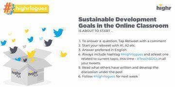 Starting in 10 minutes! ⏰ #highrloguges #TeachSDGS @TeachSDGs @UNSDGLearn @Highr_TeacherEd