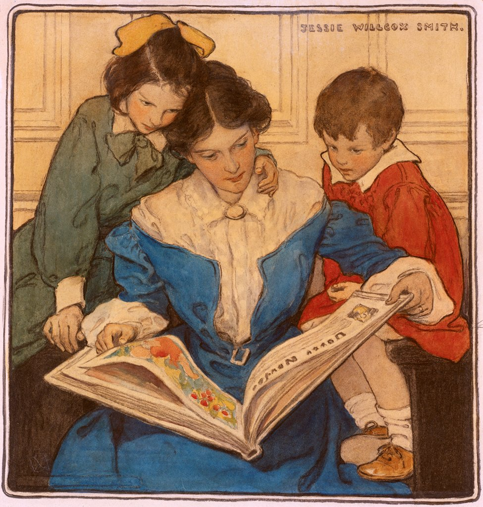 """Jessie Willcox Smith was born today, September 6, in 1863.  Considered """"one of the greatest pure illustrators"""", she was as prolific as Rockwell or Leyendecker.  She commanded as much money as her male peers—while also fighting for women's rights in the arts. https://t.co/Zx3neZbXAi"""