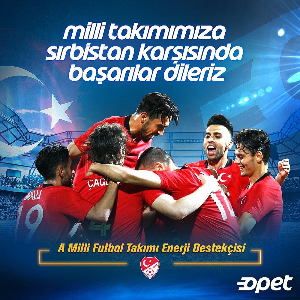 UEFA Uluslar Ligi'nde Sırbistan karşısında ikinci maçına çıkan Milli Takımımıza başarılar dileriz. https://t.co/1D1wUUFgjL