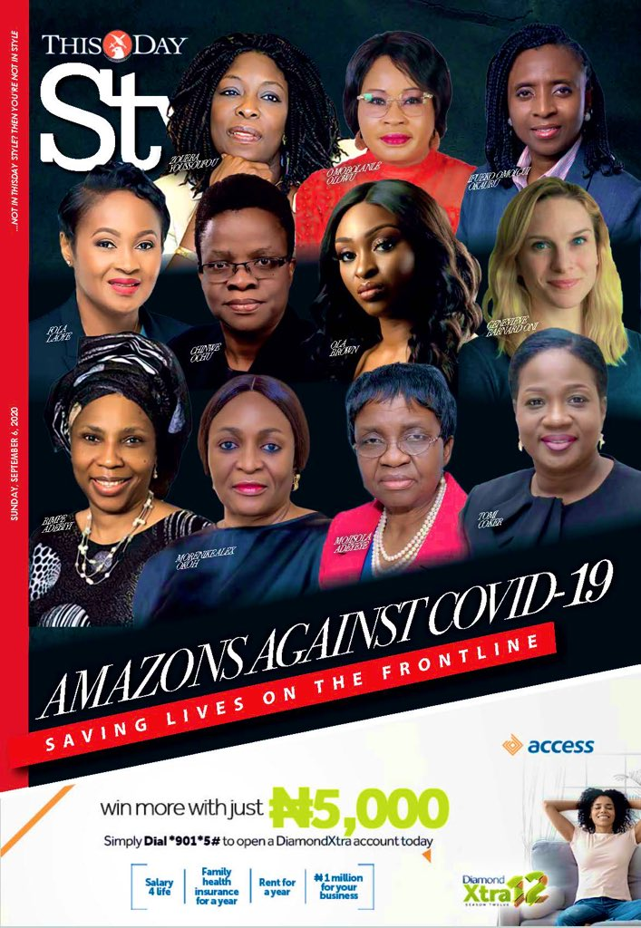 Fantastic to see these phenomenal women at the frontline of the #COVID19 response recognised and celebrated in @THISDAYLIVE. Thank you also to the countless other women (unnamed, but also deserving of recognition) 🙌🏿 🙌🏿@womeninGH #womenleaders @nighealthwatch