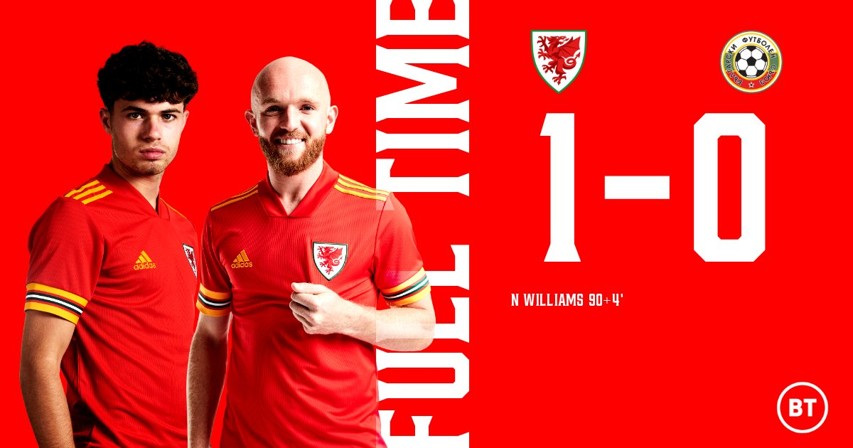 FT | 🏴 1-0 🇧🇬  It's all over and it was worth the wait!   #WALBUL  #TogetherStronger https://t.co/TMsiRCB6PL