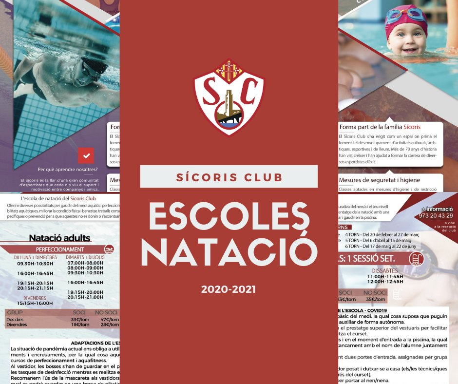 Informació sobre les escoles de #natació del Sícoris aquesta temporada 20-21 📎https://t.co/mLostReHOz 👆 Molt important: totes les nostres escoles tenen el seu propi Protocol d'Actuació (mesures higiene i seguretat COVID19) #lleida https://t.co/WiJNipIgtJ