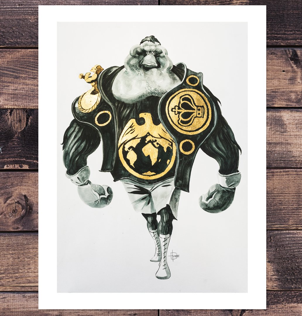 You can get my new art print now right here:  https://t.co/CQwmd2pgDW Prize fighting orangutan printed on smooth heavyweight paper. Signed by hand. https://t.co/i801MQmrpb
