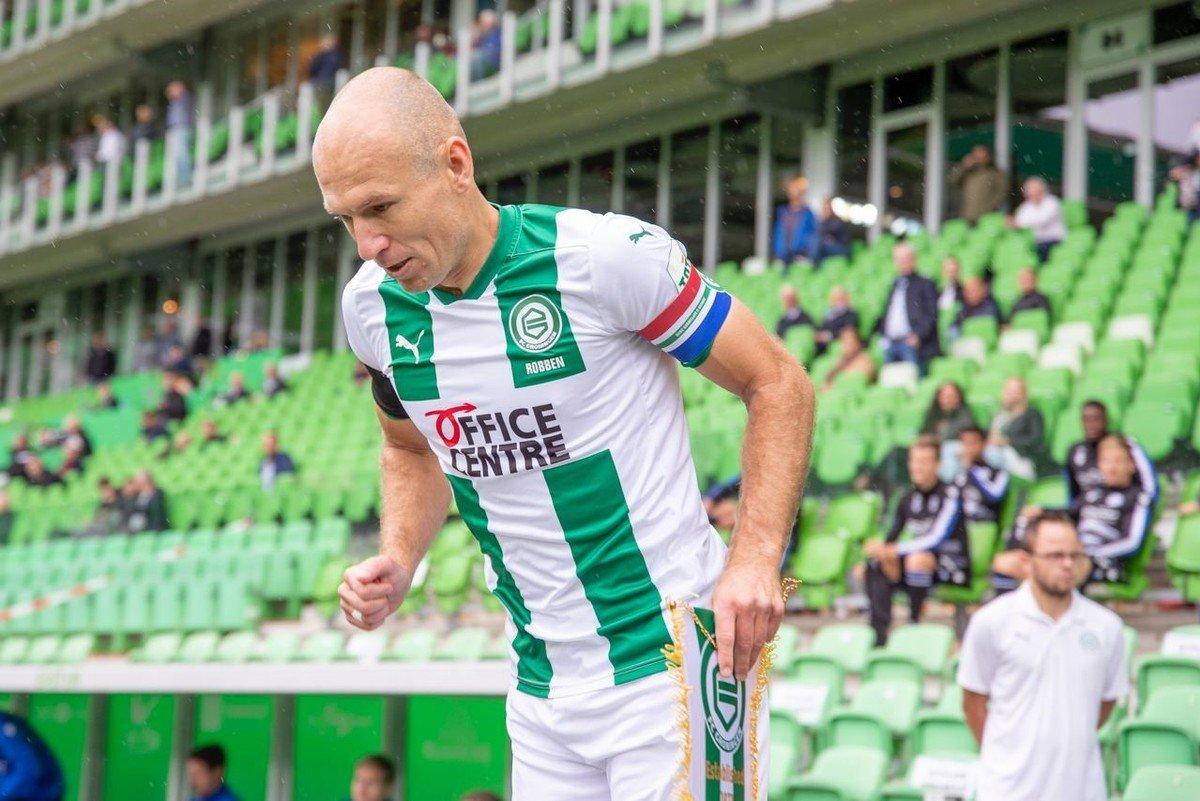 🇳🇱👏A sus 36 años Robben volvió del retiro al Groningen, club en el que debutó hace 18 años, hizo un gol y se lució 👉 ole.com.ar/futbol-interna…