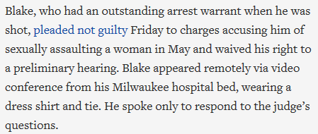 Kenosha was set on fire for this: a man who raped his ex-girlfriend, returned to her residence, and had the cops called on him.   So naturally rioters tried to burn down Kenosha.  Even worse is that this info seems constantly buried at the bottom of press articles 🙃 https://t.co/Vanpd68LwE
