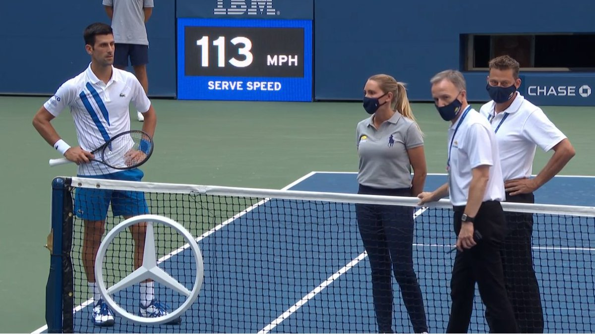 Ben Rothenberg On Twitter She Doesn T Have To Go To The Hospital For This Djokovic Trying To Downplay The Effects Of Hitting The Lineswoman Saying She Wasn T Seriously Injured Djokovic Continuining You Re