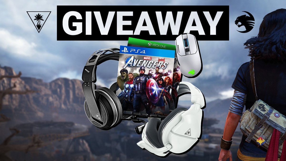 Turtle Beach and ROCCAT have assembled up for the ultimate prize pack! Score a copy of Marvel's Avengers, a headset of choice, PC gear, and more!    🐢 Follow @TurtleBeach + @ROCCAT 🔃 RT + Like 🤝 Tag a Friend  Enter ➡️