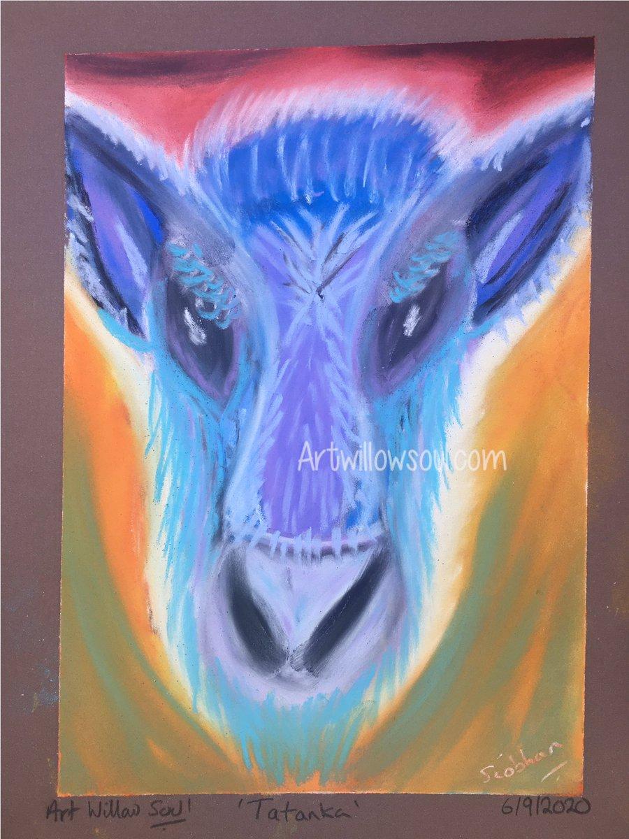 Today's art #Tatanka #spiritanimal #abstractartist #artist #widn #originalart #cows #cowart #arttherapy #artforsale @Hampshire_Made https://t.co/NCiVhY6yqn