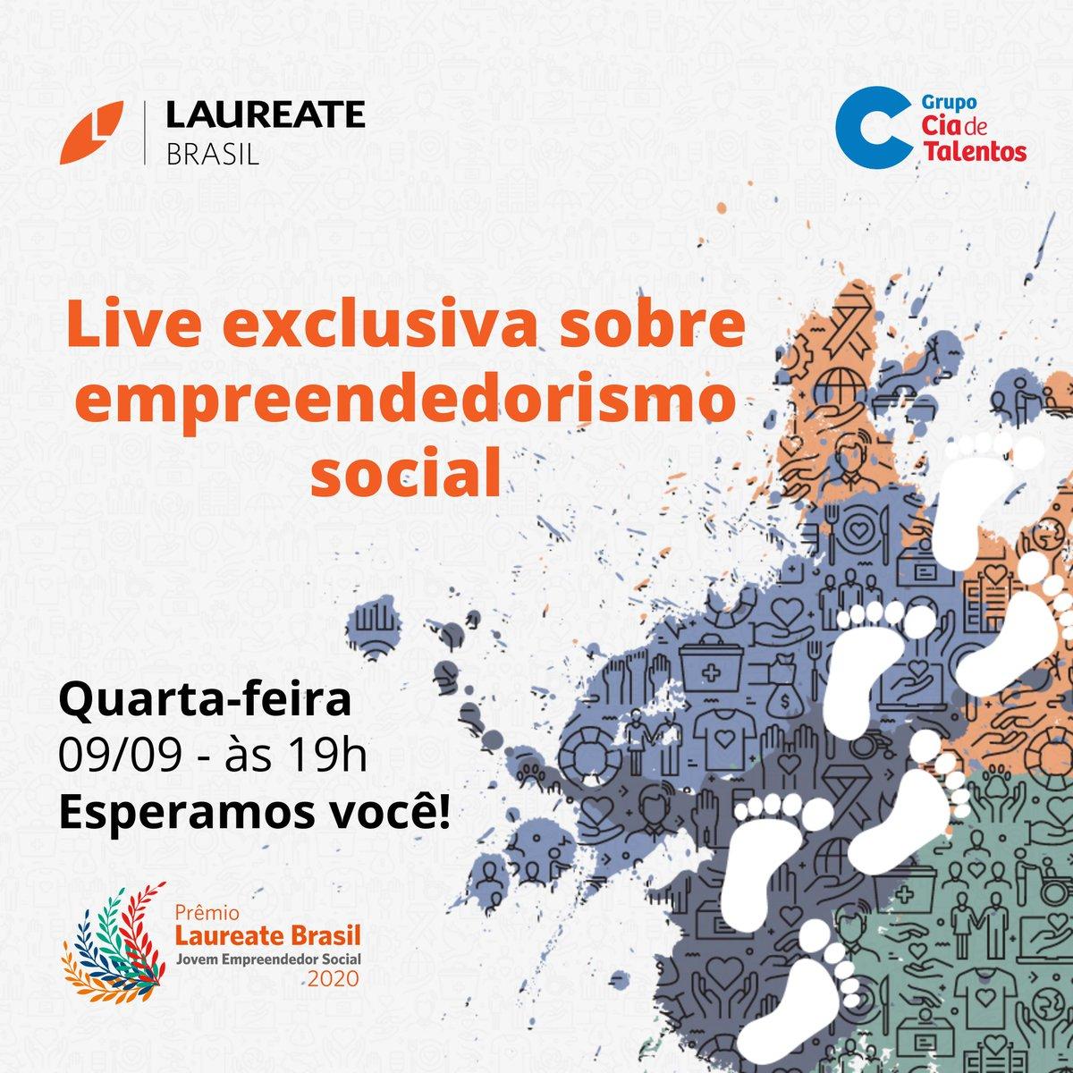 No dia 9/9, às 19h, receberemos duas ganhadoras do Prêmio Laureate Brasil - Empreendedorismo Social. A Juliana Freitas (Empreendescola) e Shirley Schneider (Projeto Joule) vão falar sobre seus respectivos projetos e como foi participar da premiação: https://t.co/A0jx2L9aeK https://t.co/y1QmcY236g