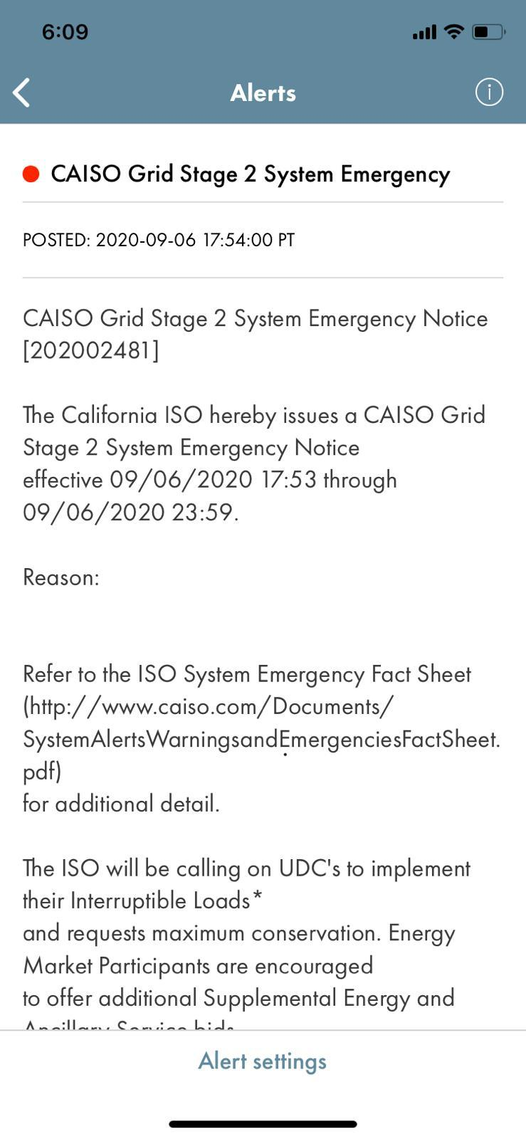Silicon Valley Power On Twitter The California Independent System Operator Has Issued A Stage 2 Emergency Through Midnight And Is Requesting Voluntary Conservation Please Delay Use Of Large Appliances And Set Thermostats