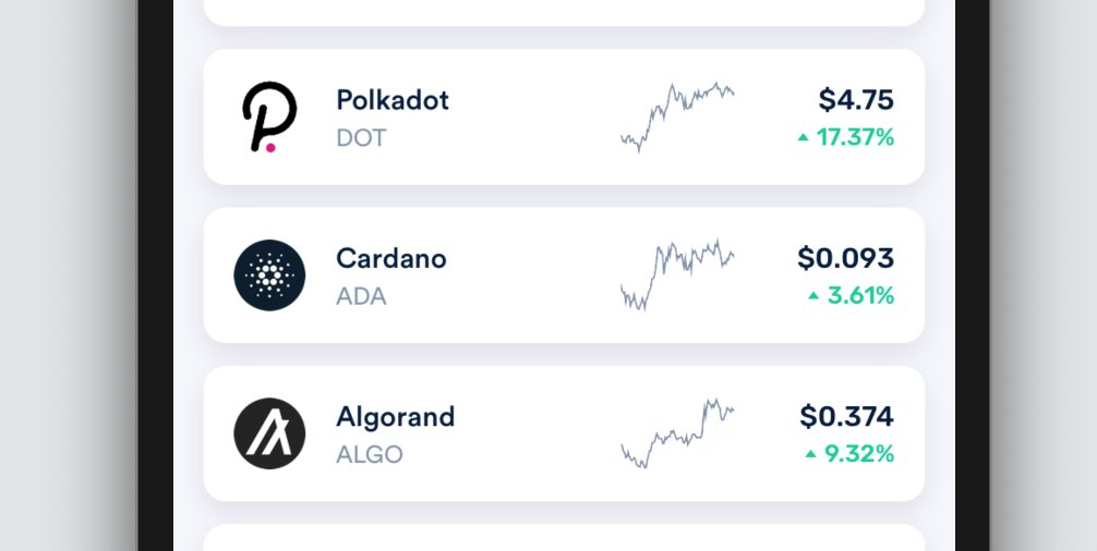➕ We've added supported for Algorand $ALGO, Polkadot $DOT, and Cardano $ADA.  All 3 are immediately available for trading.  And, like all currencies that we we support, they earn daily interest payouts up to 5% APY.  #Algorand #PolkaDot #Cardano https://t.co/pToJ9mg6w5