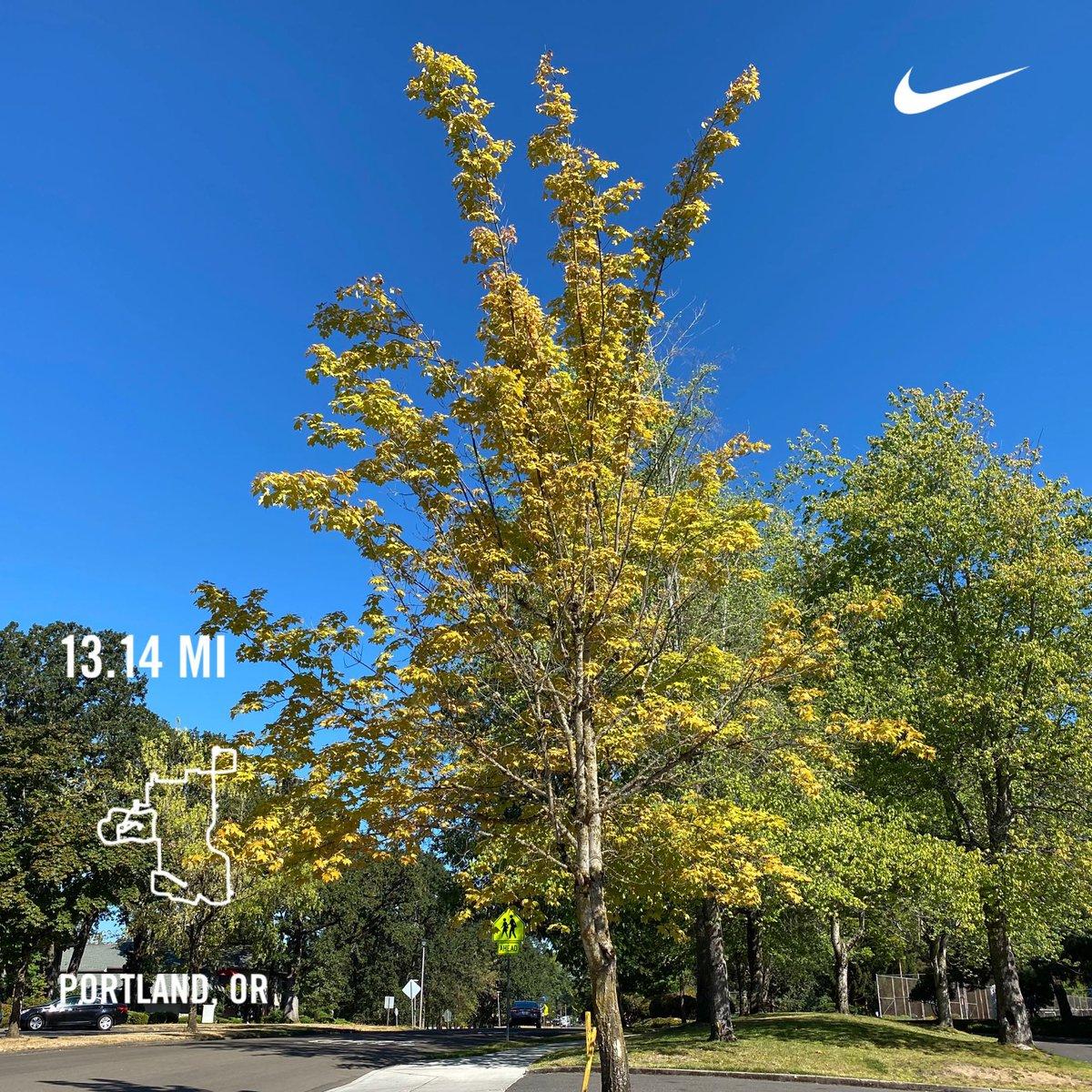 Another half marathon, Ran 13.14 miles with Nike Run Club #JustDoIt #nrc #nikerunning #nike #playfortheworld  #youcantstopus #socialdistancerunning https://t.co/p893WHBrwJ