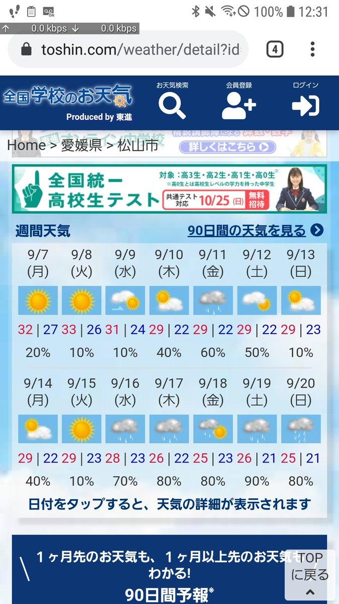 週間 予報 二 天気