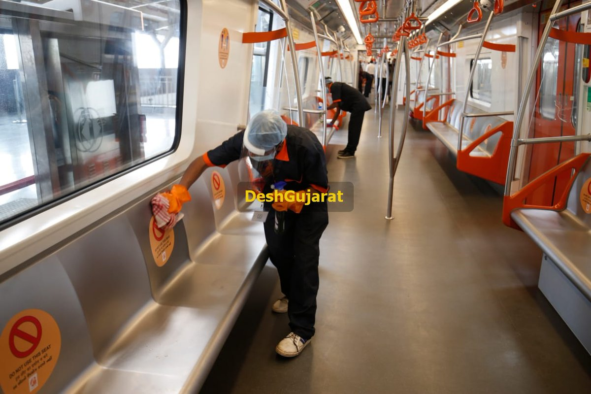 In pictures: Ahmedabad Metro train service resumes today after months of Covid-19 pandemic related suspension of service