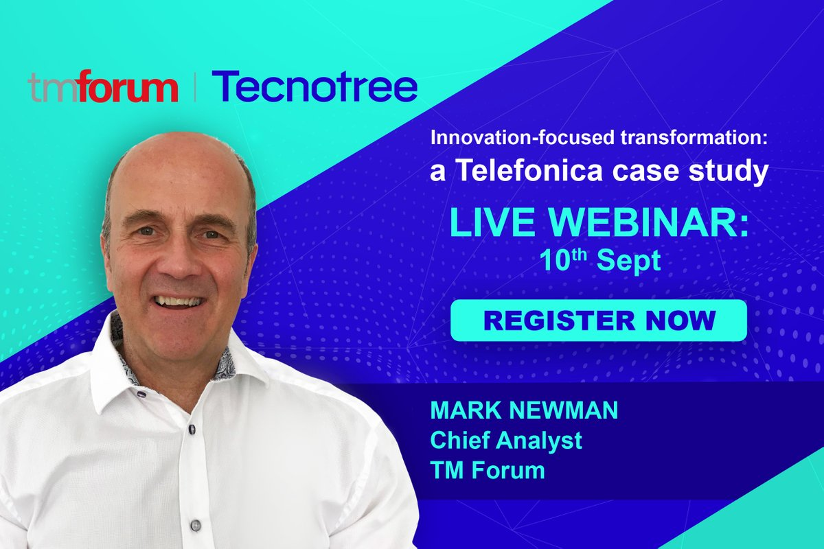 Register for webinar on how Telefonica drove an innovation-focused transformation? https://t.co/HcbagxvGK9 Hear @tmforumorg's Mark Newman about innovation with new offers & deliver improvements in customer experience by decoupling. #telecoms #Telecom #webinars https://t.co/PgMW8iTLof