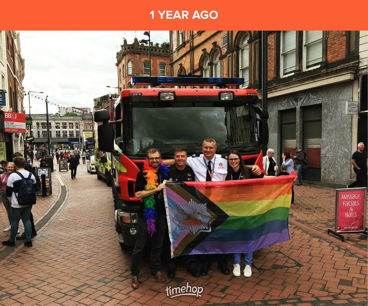 A year ago today since ⁦@DerbyPrideLGBT⁩ 🏳️‍🌈 Can't wait to celebrate again in 2021 🎉