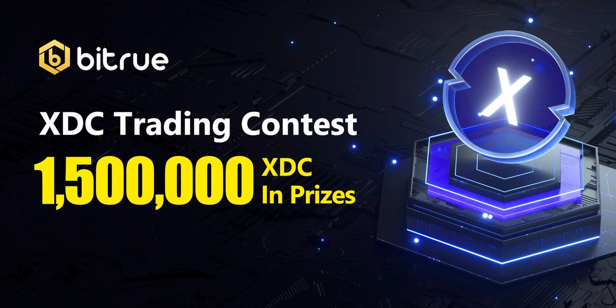 Celebrate the successful listing of $XDC on @BitrueOfficial with a trading contest starting from 8th September, where #Bitrue to #giveaway 1,500,000 XDC.