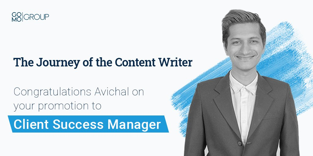 """""""Logical reasoning, a design perspective and clear communication are three skills that I apply in every aspect of my life. At GO MO, this combination has helped me grow from a Content Writer to Client Success Manager within 4 years. Create, test, reiterate!"""" — Avichal Singh, CSM https://t.co/JSSdP19Fg0"""