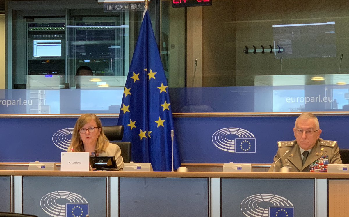 Exchange of views with @EP_Defence on #Eudefence: #COVIDー19 has amplified existing threats, #disinformation #hybrid & #cyberattacks,but brought also new ones.The #pandemic presented us the need to re-think our capacity and willingness to respond and manage exceptional situations https://t.co/Nn4BTgmPau