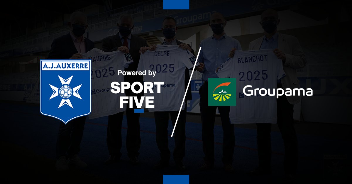 🇫🇷 SPORTFIVE supports A.J. Auxerre in the renewal of their partnership with Groupama.   Until 2025 the insurance group will be visible on the uniforms of the men's and women's teams.   ▶️ https://t.co/jdTFKUdKaf https://t.co/NQJx8a1o2z