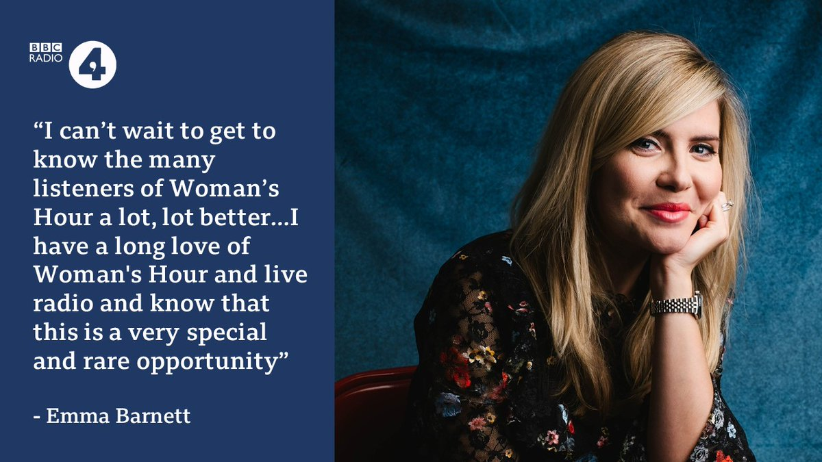 🎙 @Emmabarnett to be the new host of Woman's Hour - bbc.in/2ZfpJKd