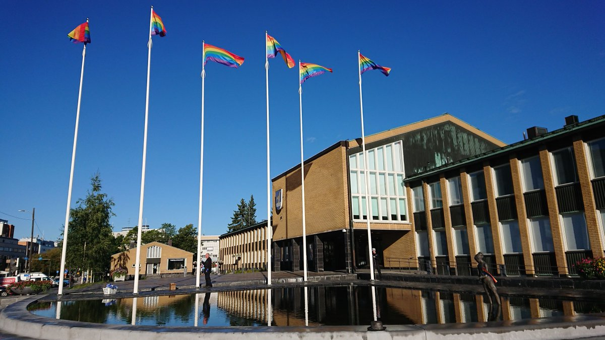 """""""Equal rights and opportunities belong to everyone, regardless of sexual orientation or gender."""" The city of @VantaanKaupunki wishes everyone a safe and happy pride week in @helsinki  #NordicSafeCities #HappyPride"""