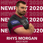 Image for the Tweet beginning: Back rower Rhys Morgan signs