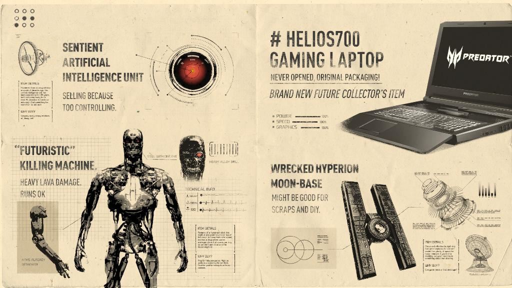 Browse for the best deals on everything from old-school tech to disgruntled cyborgs and the most cutting-edge space-age gaming machines. #Helios700 https://t.co/aEwps8qfw8