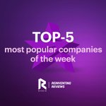 Image for the Tweet beginning: ⚡️TOP 5 most popular companies