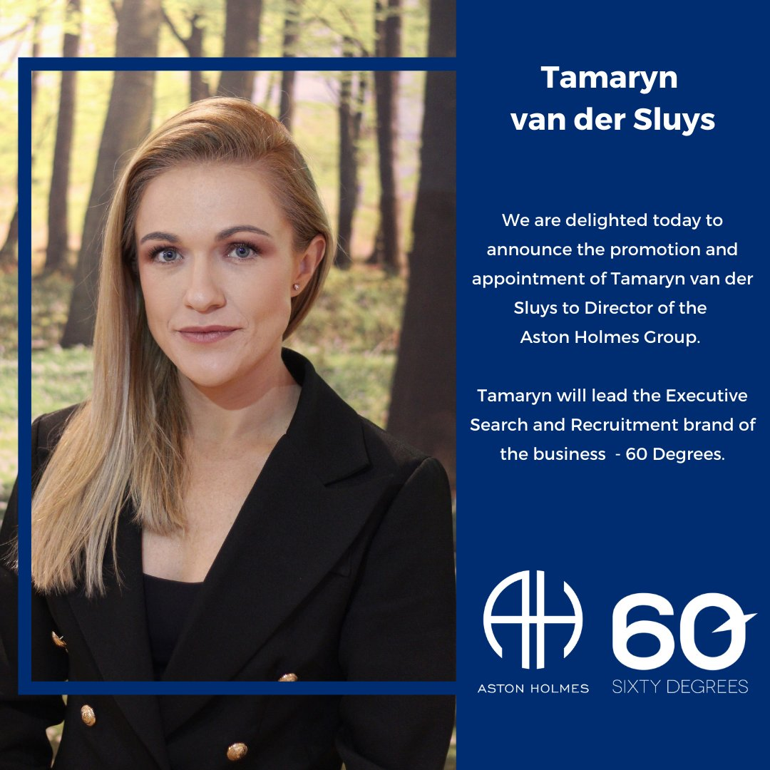 test Twitter Media - We are delighted to announce the promotion of Tamaryn-Leigh van der Sluys to Director of the Aston Holmes Group.  Tam will lead our Executive Search & Recruitment brand, 60 Degrees Ltd.  https://t.co/47UpyeO7C7 https://t.co/QRup0DFOny