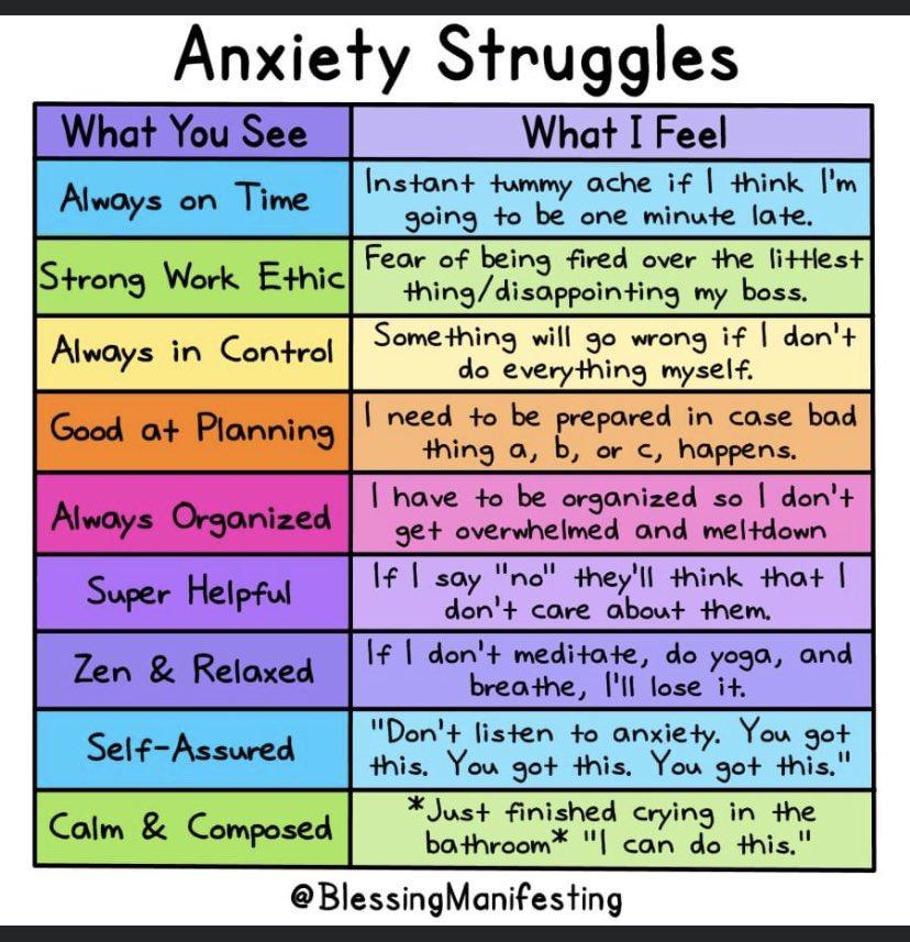 Anxiety struggles.