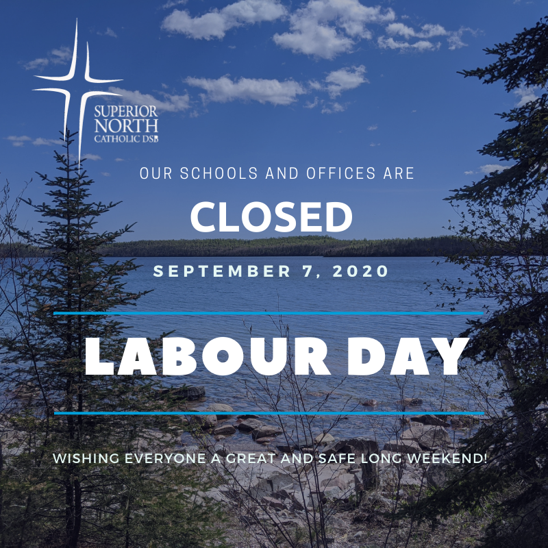 Our #SNCDSB schools and offices are closed today - September 7th - for Labour Day.   Wishing everyone a great and safe long weekend! https://t.co/8Udj1KHyMH