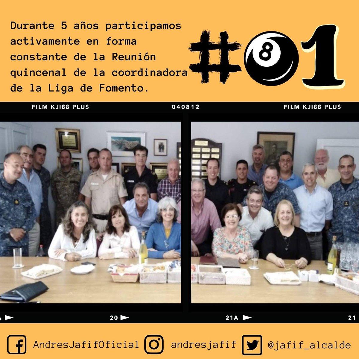 Durante 5 años participamos activamente en forma constante de la Reunión quincenal de la coordinadora de la Liga de Fomento.  #JafifAlcalde #Día81 #CuentaRegresiva #PuntaDelEste #Jafif100 https://t.co/ShW7NGuvK7