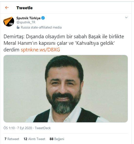 """AK Antalyalı 🇹🇷 on Twitter: """"Madem Hdp/pkk'lı Demirtaş ile anlaşıp  Erdoğan'ı Başkanlıktan indirmeye çalışacaksınız.! Yıllarca neden bu millete  Erdoğan Hdp ile anlaştı, kendisi Başkan olacak Hdp'ye özerklik verecek, Apo  serbest kalacak diye"""