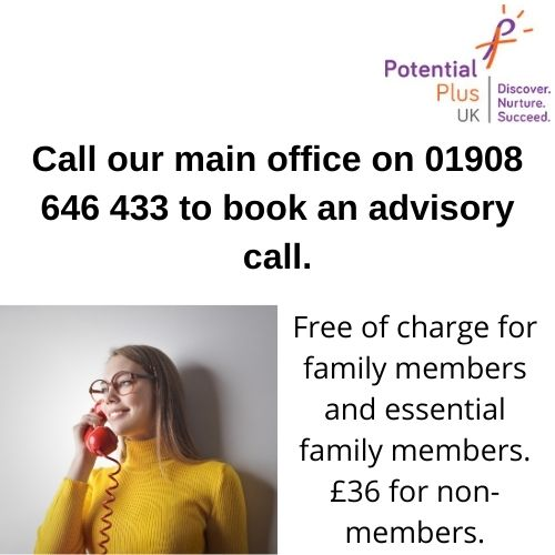 Our half an hour advisory calls give parents/careers the opportunity to speak about their child(ren) and receive in-depth advice, support, information and guidance. #Giftedness #MoreAble #SupportForParents #gtchat https://t.co/cM6UcyPkpo