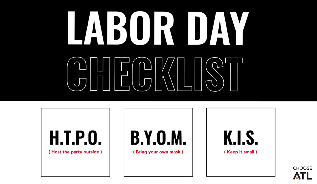We've got your Labor Day checklist to stay safe during COVID-19. Y'all know the drill: host parties outside, mask up and keep gatherings small. #MaskUpGA https://t.co/rT0eM5hysH