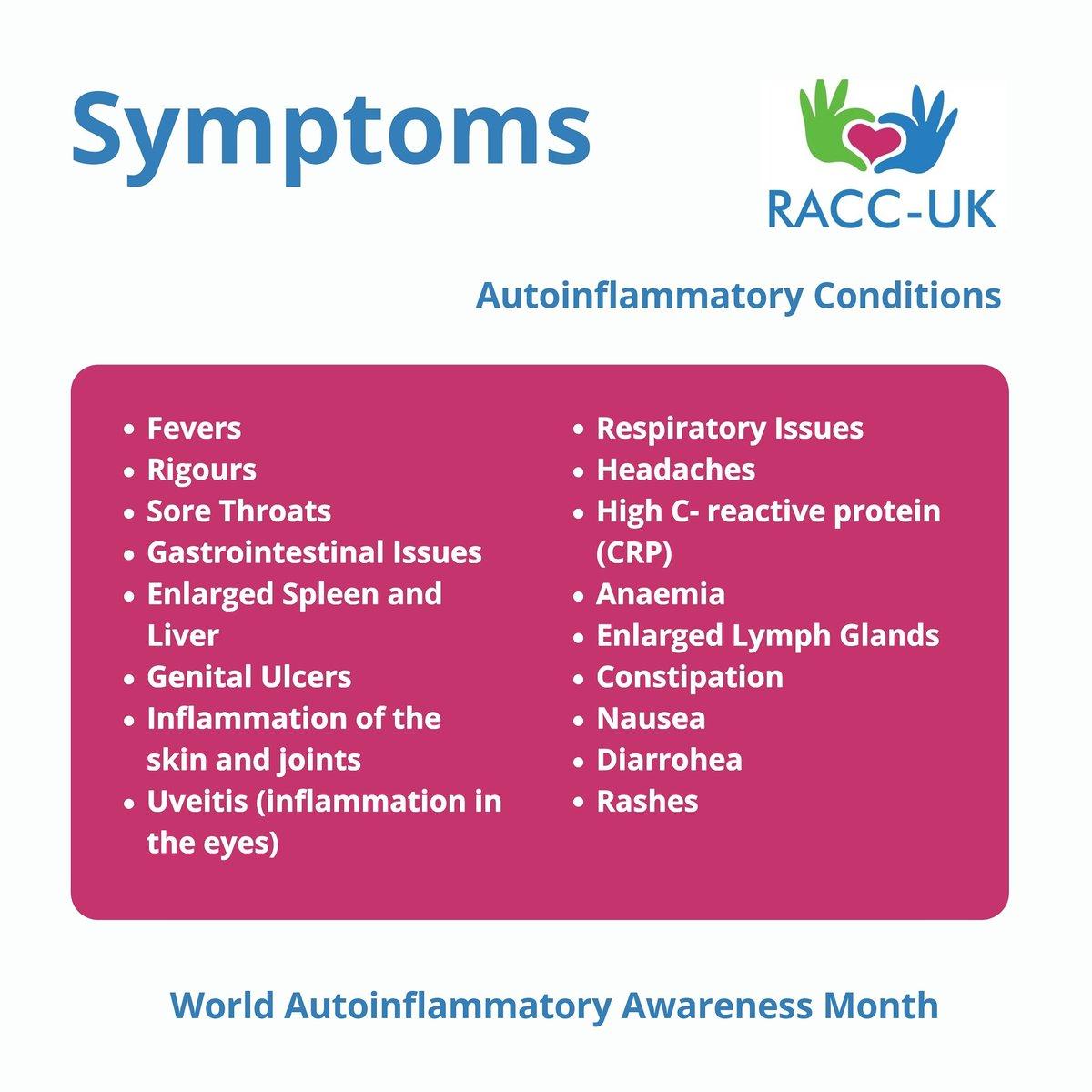 World Autoinflammatory Awareness Month  #racc_uk #rare #rarediseases #AutoinflammatoryAwareness #autoinflammatory #autoinflammatorydisease #awareness #raisingawareness https://t.co/OHqgGguoNR