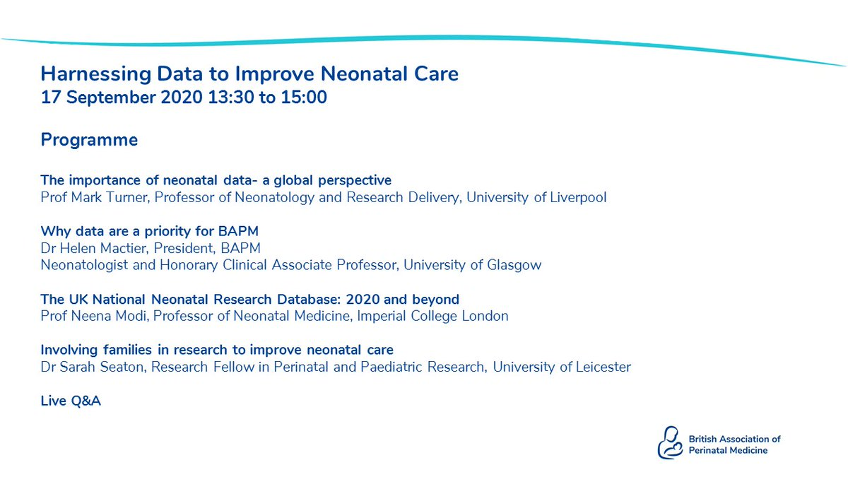 Did you know that our data webinar on 17th September will feature a live Q&A? You can submit a question during the event, when you register or by emailing the BAPM office.  Book: https://t.co/BRtopBfFaJ  BAPM Members free, non-members £10. https://t.co/UsbXysPJ70