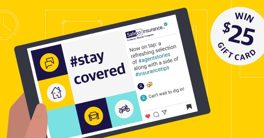 Follow us on Instagram to load up on quick tips to help you #staycovered 😎 and you'll be entered to win one of three $25 Amazon gift cards 🏆  Dig in here: https://t.co/Ip2vm31Fkg  Instagram Launch No purch nec. Ends 9/27. Rules: https://t.co/Twbm99wX9N https://t.co/XSBdXJmRxo