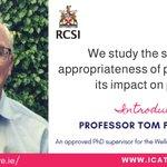 Image for the Tweet beginning: Introducing ICAT supervisor Prof Tom