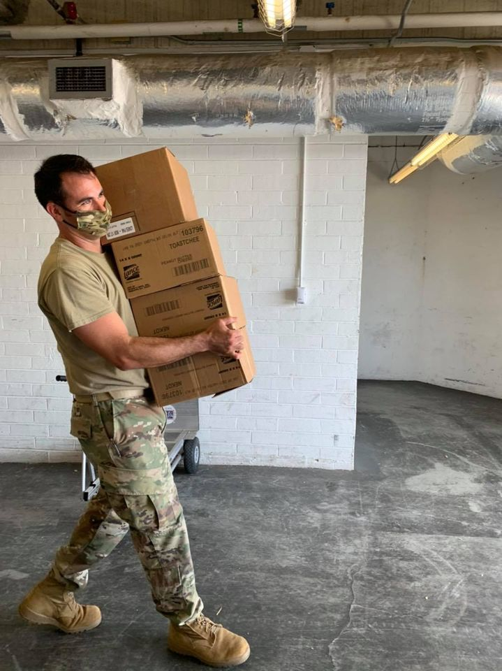National Guard members are supporting families affected by Hurricane Laura, and the USO is proud to stand by their side. USO South Carolina (@USO_SC) helped our @MobileUSO team stock up with hygiene supplies and snacks for service members assisting in the relief efforts.
