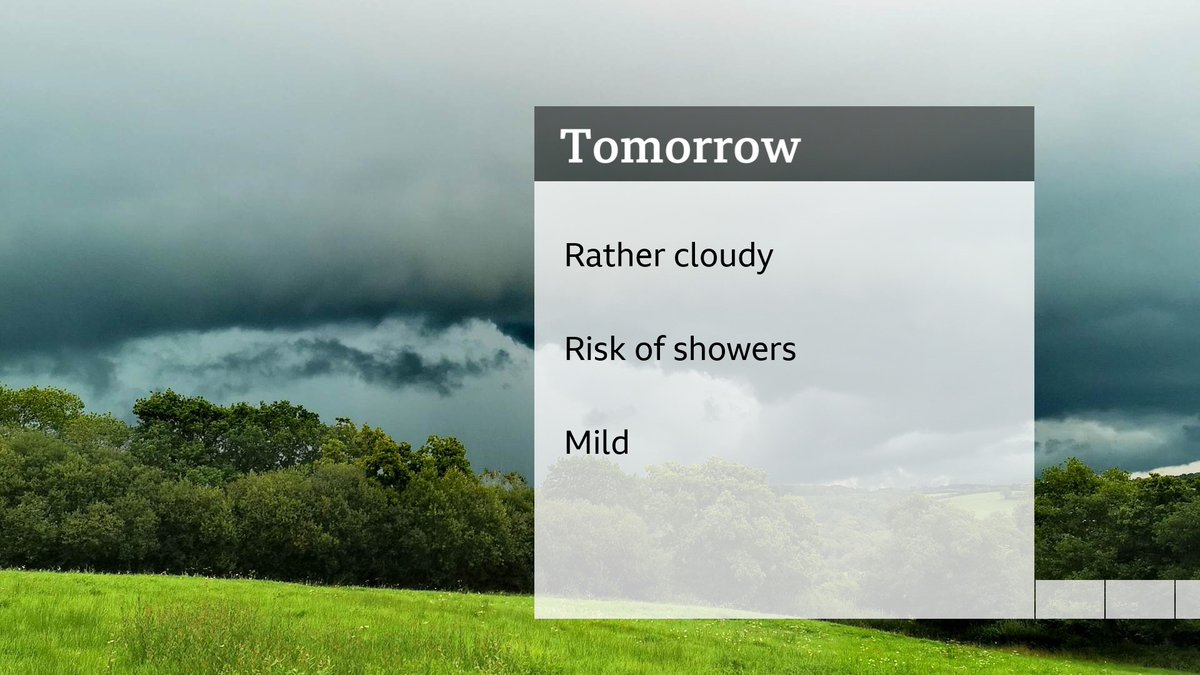 Rather cloudy for the next two days, some low cloud and hill fog, turning brighter and cooler later this week. D😀 https://t.co/SdVVV8bqXh