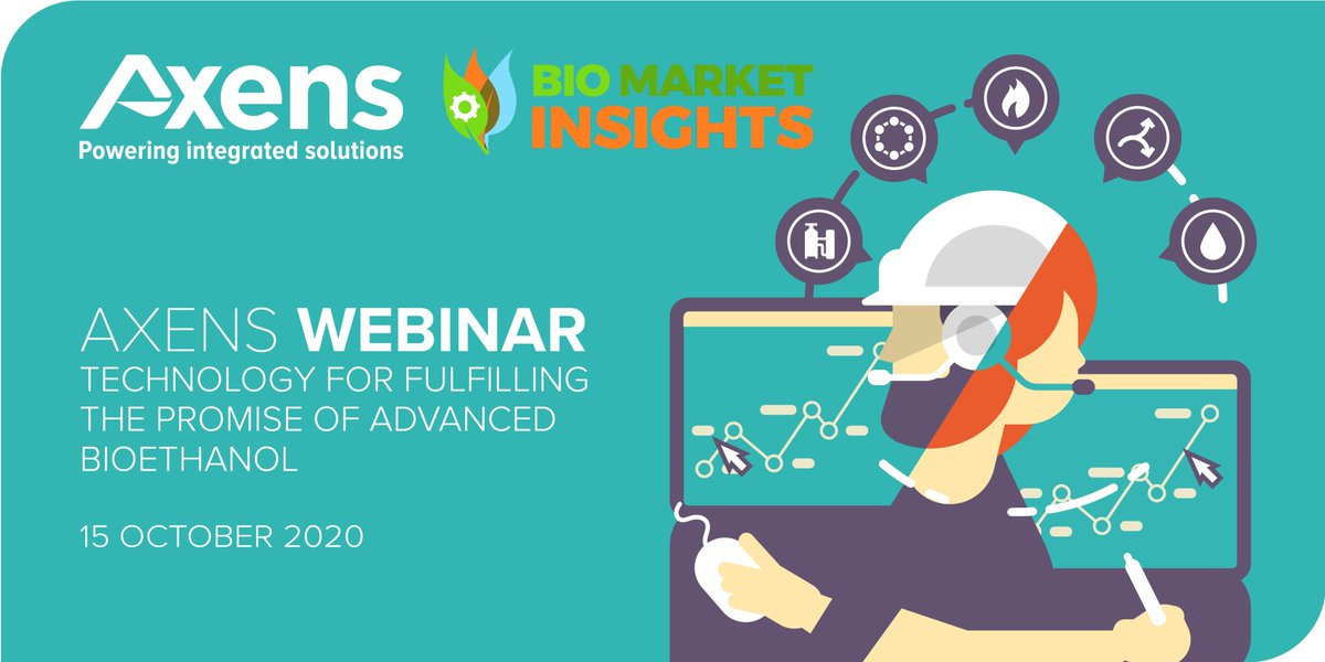 """#SaveTheDate 🗓️ I Interested in """"technology for fulfilling the promise of advanced bioethanol?"""" Good news! This is the subject of the next exclusive #webinar hosted by Axens in partnership with @Bio_Markets on October 15th.  Register right here 👇 : https://t.co/ocVX4ImaoA https://t.co/IpNOsCpCm8"""