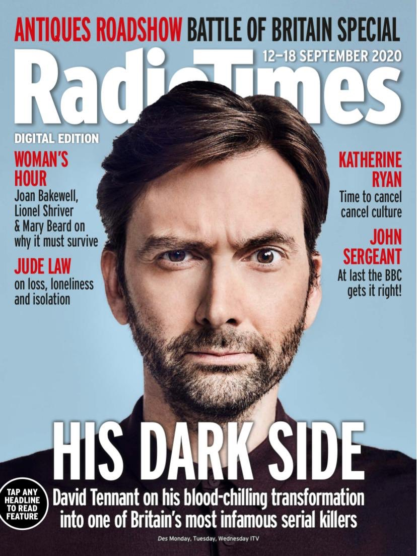 David Tennant on the cover of Radio Times