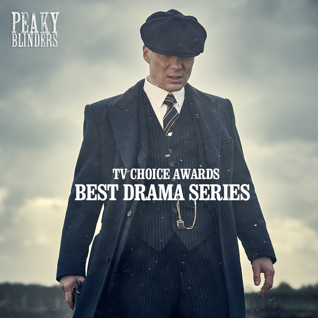 #PeakyBlinders has won the Best Drama Series award at the #tvchoiceawards! Thank you to our amazing community for voting. https://t.co/Wlk2Rkyfyo