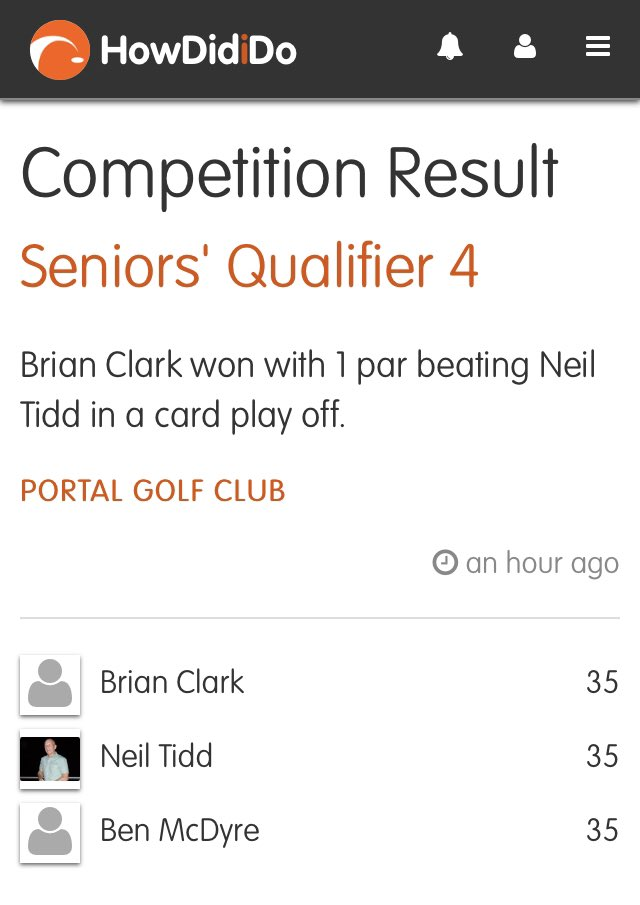 Close finish today at Seniors Qualifier #stableford Top 3 all had 35pts 👍 ⛳ #golf #seniors Well played Brian Clark 👏 https://t.co/od2oeuNCvP